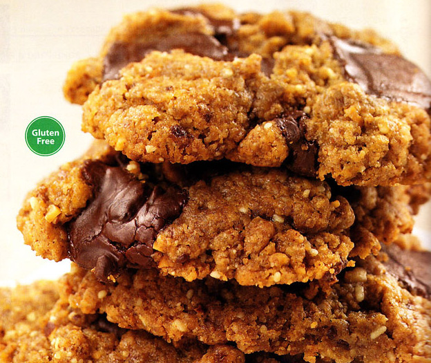 Almond Butter Cookies With A Chocolate Topping Recipes — Dishmaps