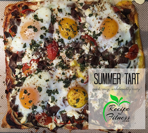 Healthy Summer Veggie and Steak Tart Recipe